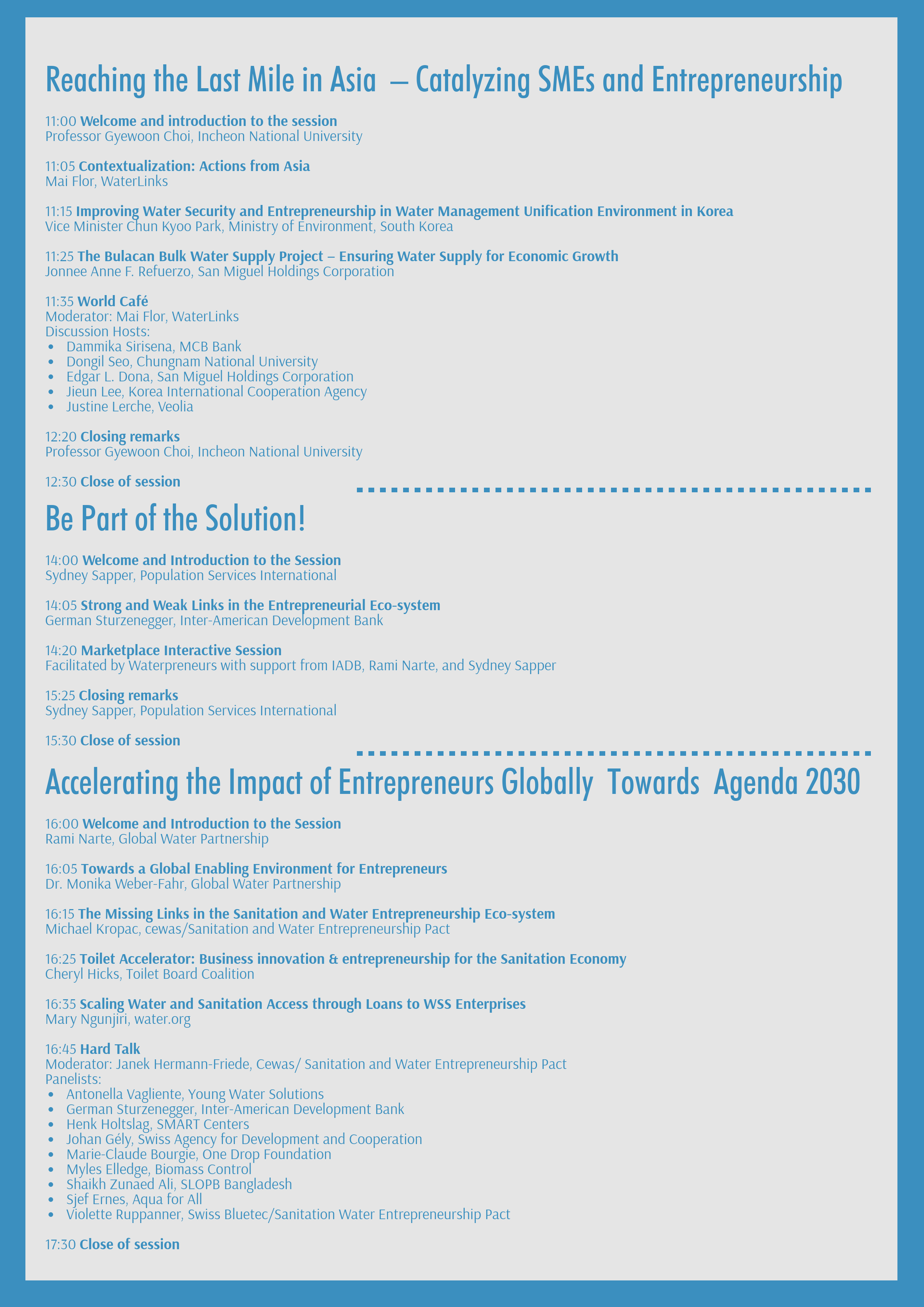 The programme for our full day seminar at #WWWeek2019 is out